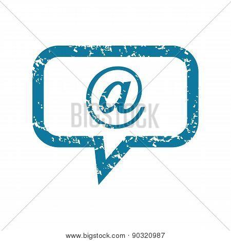 Grunge mail message icon