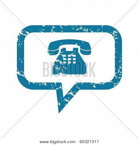 Grunge phone message icon