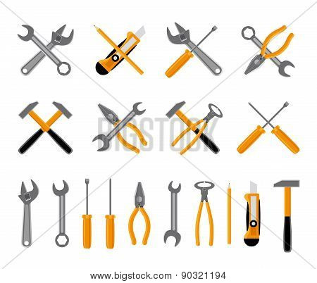 Tools icons set