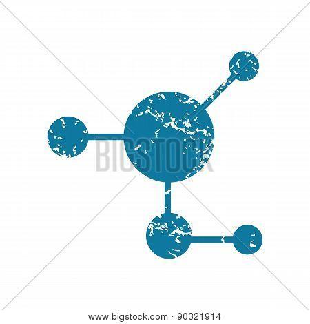 Grunge molecule icon