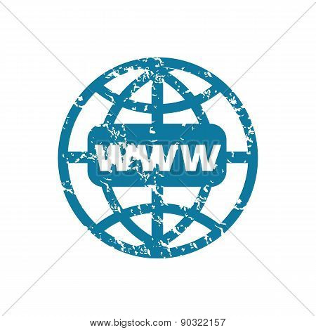 Grunge world net icon