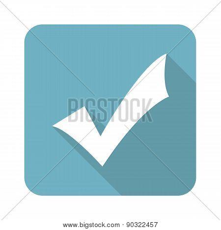 Square tick mark icon
