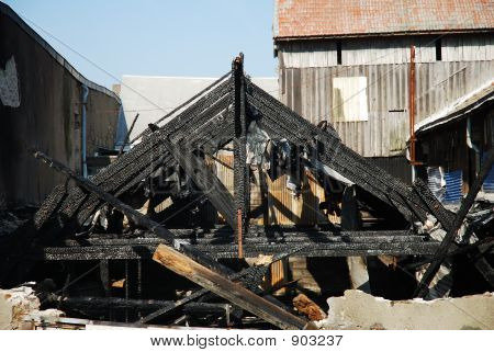 Burned Factory Frame