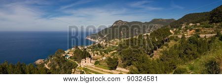 Panorama Of The West Coast Of Mallorca