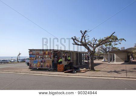 Street Vendor Stall On Durban Beachfont