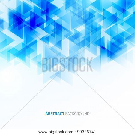Blue shiny technical background. Vector