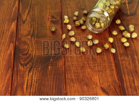 Capers in glass