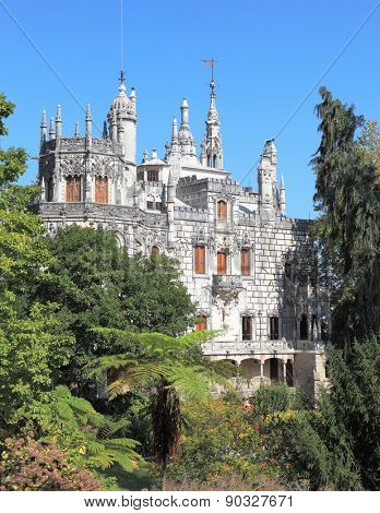 The medieval palace in the old park. The palace became a museum