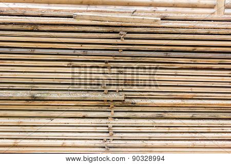 Selection Of Freshly Sawn Timber Material