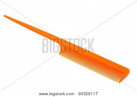 modern orange comb on a white background