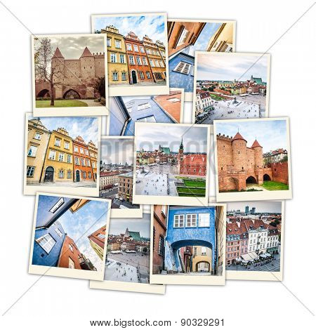 collage of sights and beautiful views of Warsaw
