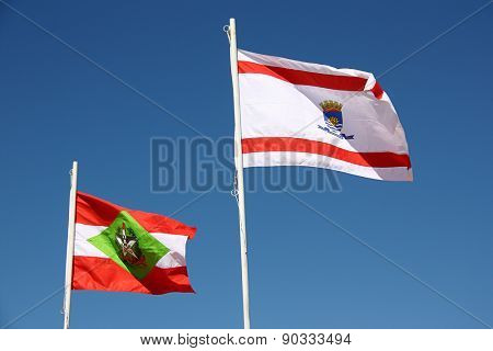 Flags of Santa Catariana and Florianopolis