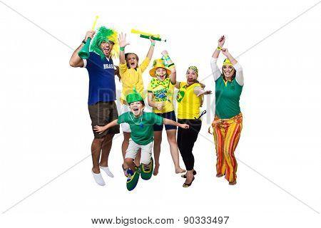 Brazilian team celebration