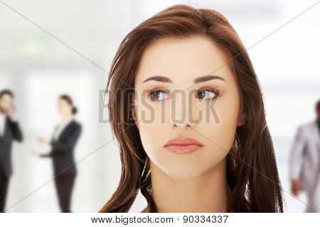 Portrait of a woman somewhere
