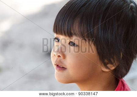 Cute Little Girl Looking Away