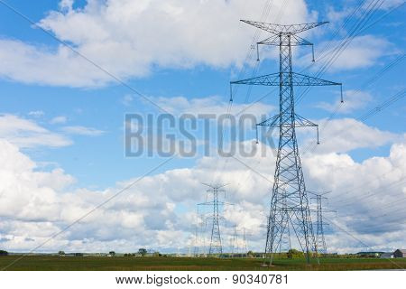 Hydro Towers In Bruce County
