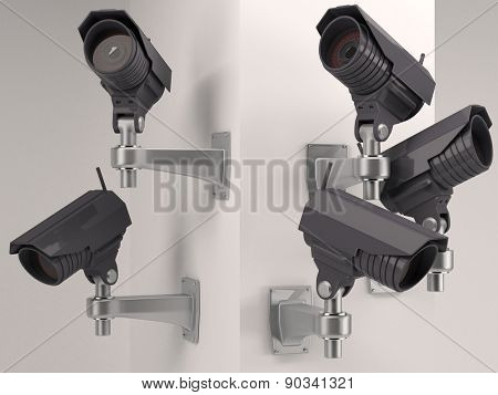 3D Render of CCTV Security Camera