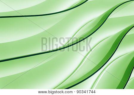 Green neon wave