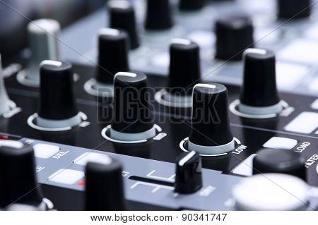 Silver DJ mixer