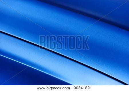 Blue sedan bodywork