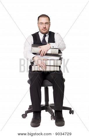 Man on an officechair
