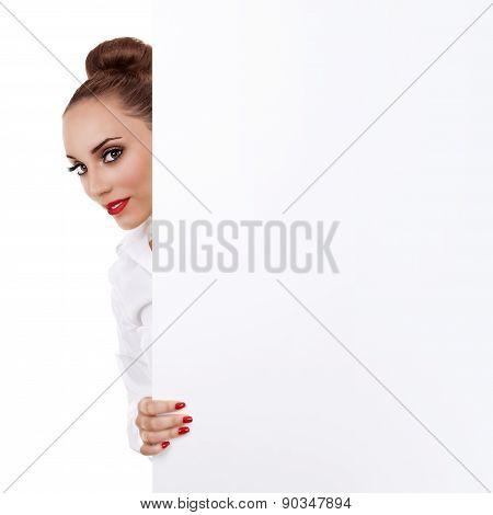 Modern Business Woman Sign