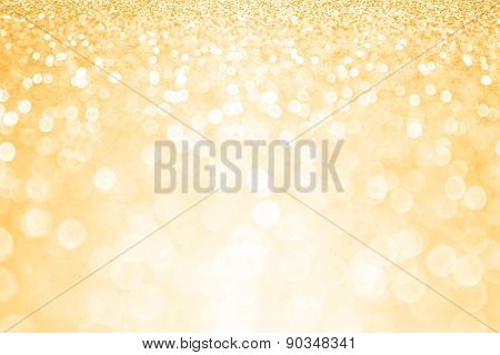Gold Glitter Confetti Party Background