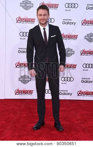 LOS ANGELES - APR 14:  Chris Hardwick arrives to the Marvel's