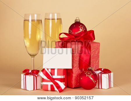 Christmas gifts with card