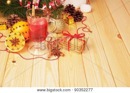 Mulled wine and orange
