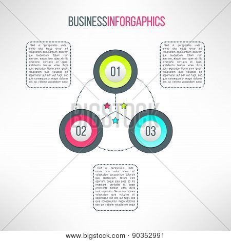 Vector business process steps infographic elements. Options choice, instruction or presentation bann