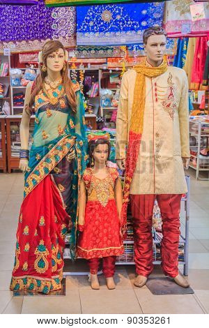 Mannequins Dressed In Indian Clothing