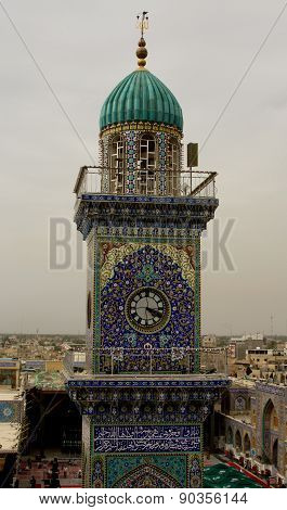 Lighthouse Clock Tower In Al-kadhimiya Mosque