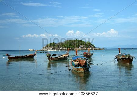 Lipe island and long tail boats
