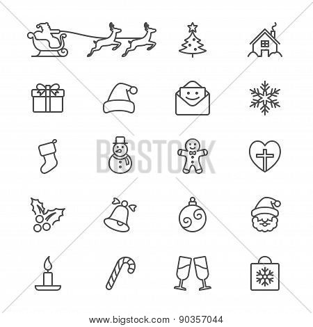 Christmas Thin Icons