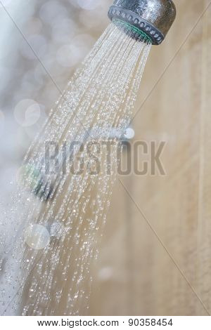 Photograph Of A Shower Drops