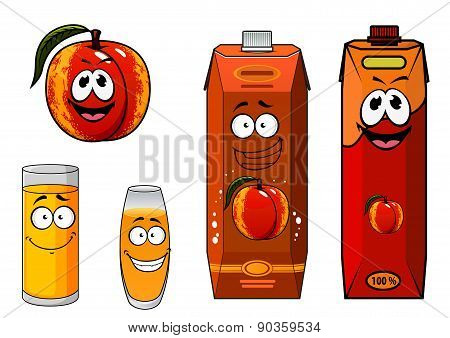 Apricot fruit and juice characters
