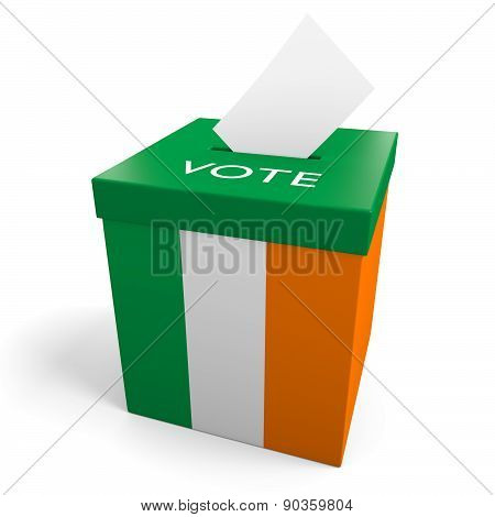 Ireland election ballot box for collecting votes