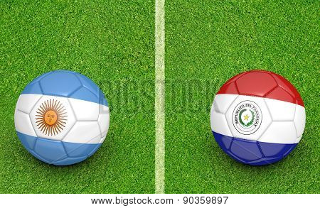 2015 Copa America football tournament, teams Argentina vs Paraguay