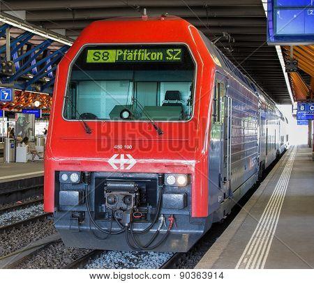 Train at the Platform in Winterthur
