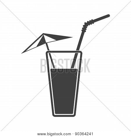 Vector Illustration Of Alcohol Drink Icon. Summer Cocktail