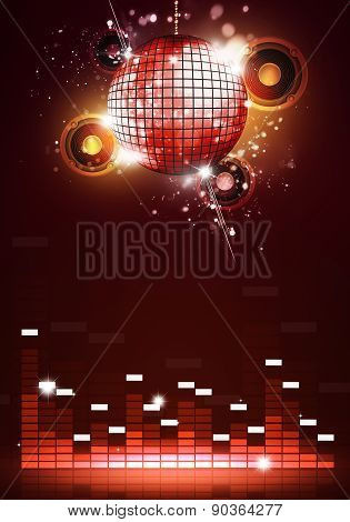 Disco Party Music Background