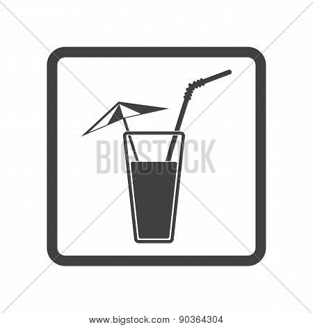 Alcohol Drink Icon. Cold Summer Cocktail. Vector