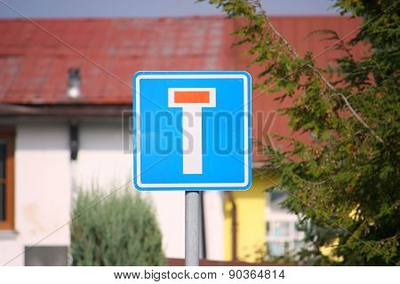 No through road (dead end) traffic sign