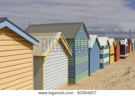 Brighton Beach In Melbourne, Australia