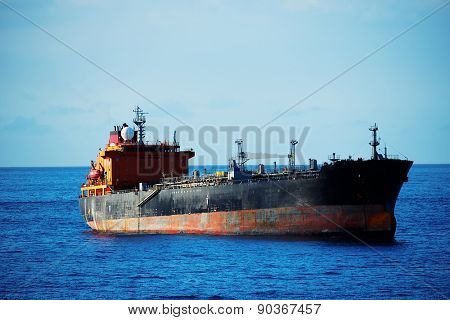 Ship on the Atlantic Ocean, Tenerife, Spain