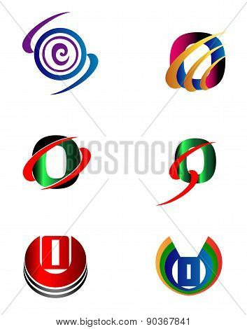 Set of Letter O logo