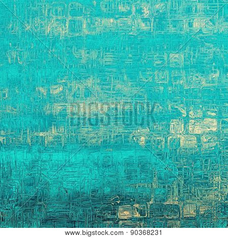 Rough vintage texture. With different color patterns: yellow (beige); blue; cyan