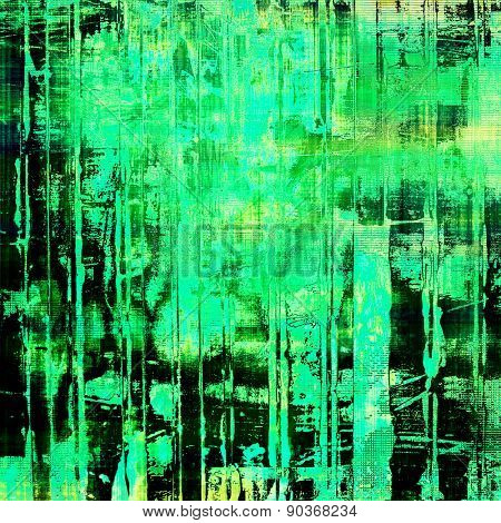 Aging grunge texture designed as abstract old background. With different color patterns: yellow (beige); black; green; blue