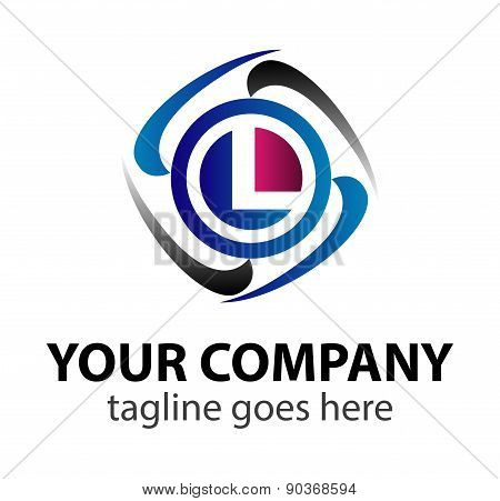 Letter L logo design template letter L icon